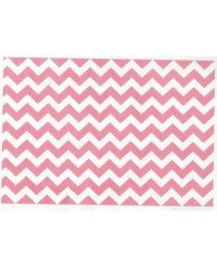 image: Wafer paper sheet Pink chevron zig-zag