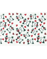 image: Wafer paper sheet Cats & hearts