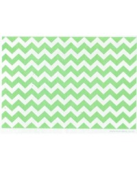 image: Wafer paper sheet pale Green chevron zig-zag