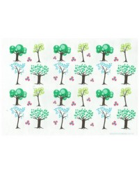 image: Wafer paper sheet Trees