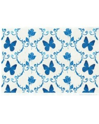 image: Wafer paper sheet Blue butterfly & rose