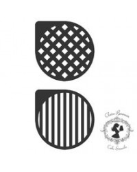 image: Claire Bowman stencil set 2 Sasha Stripes & diamonds