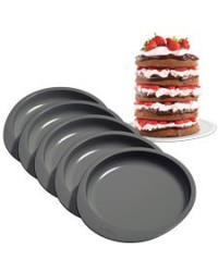 "image: Easy Layers 6"" Cake Pan Set of 5 (great for rainbow cakes)"