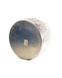 "image: 8"" Cake cards silver round bulk pack 50"