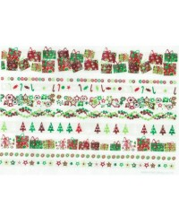 image: Wafer paper sheet Christmas ribbon designs