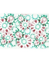 image: Wafer paper sheet Christmas circles