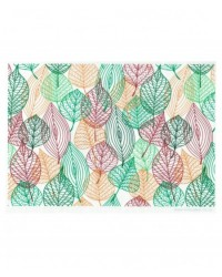image: Wafer paper sheet Retro leaves #1