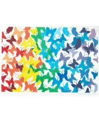 image: Wafer paper sheet Rainbow Butterflies