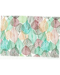 image: Wafer paper sheet Retro leaves #2