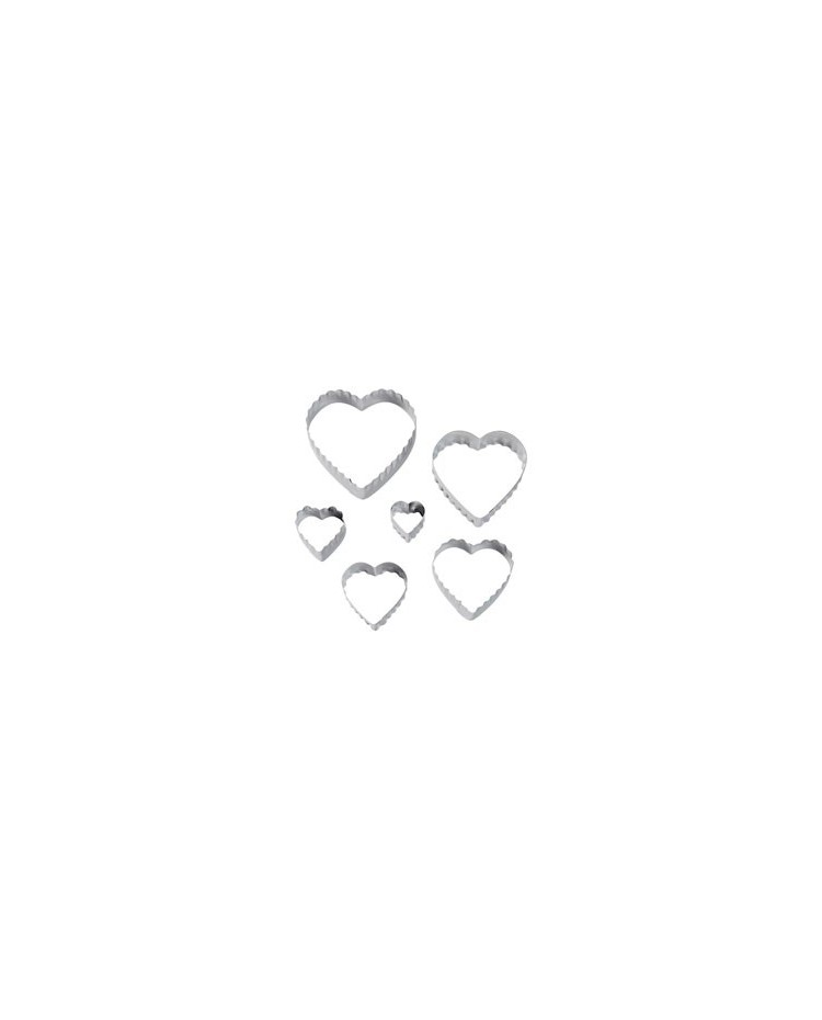 image: Heart Fondant Double sided Cut-Outs Set