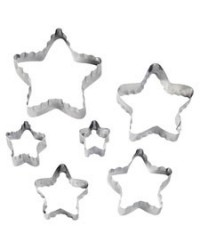 image: Star Fondant Double sided Cut-Outs cutter set