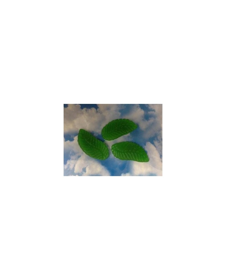 image: 200g Giant spearmint leaves candy lollies by Mayceys
