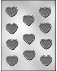 image: Hearts with border chocolate mould