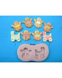 image: Baby & Pram silicone mould