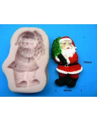 image: Santa holding Christmas tree silicone mould