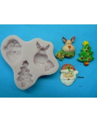 image: Santa Rudolph & Christmas tree silicone mould