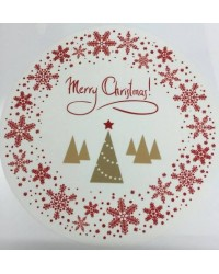 image: Edible Image Merry Christmas with trees & Snowflakes