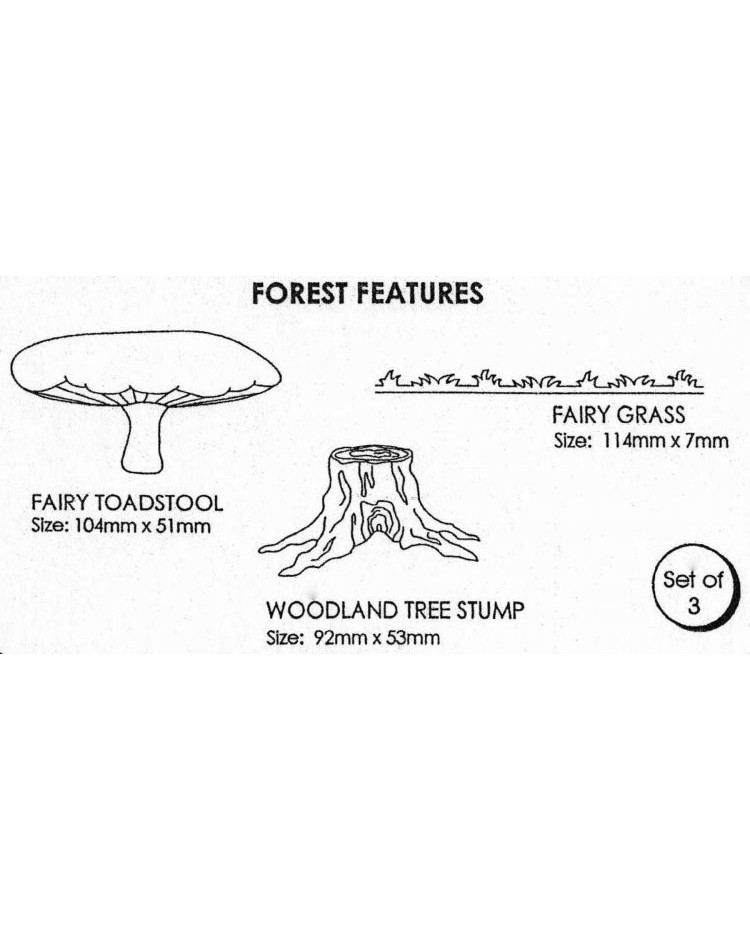 image: Jem Forest features cutter set (toadstool tree trunk & grass)