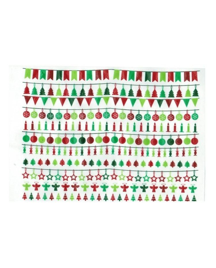 image: Wafer paper sheet Christmas bunting #1
