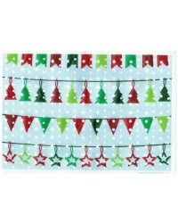 image: Wafer paper sheet Christmas bunting #2