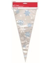 image: Snowflakes blue & white cone shape bags (20)