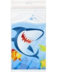 image: Fin friends Under the sea party tablecover  shark & fish