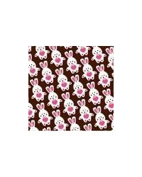 image: Chocolate transfer sheet cute pink/white Easter bunny #2