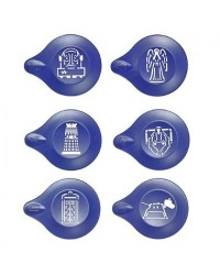 image: Doctor Who stencil dusting set Dr Who