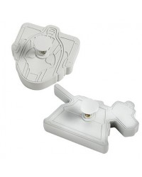 image: Doctor Who K9 & Cyberman plunger cookie cutters Dr Who