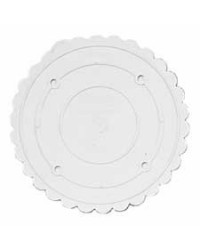 image: 8 inch Decorator Preferred Scalloped Separator Plate ROUND