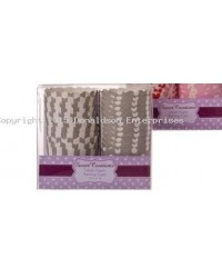 image: Silver stripe polka dot twin pack straight sided cupcake papers