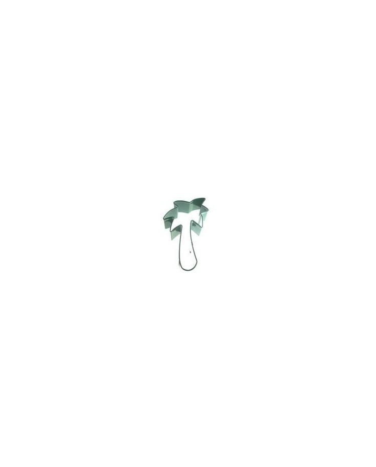 image: Palm tree green metal cookie cutter