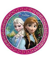 image: Frozen Elsa & Anna party plates (8)