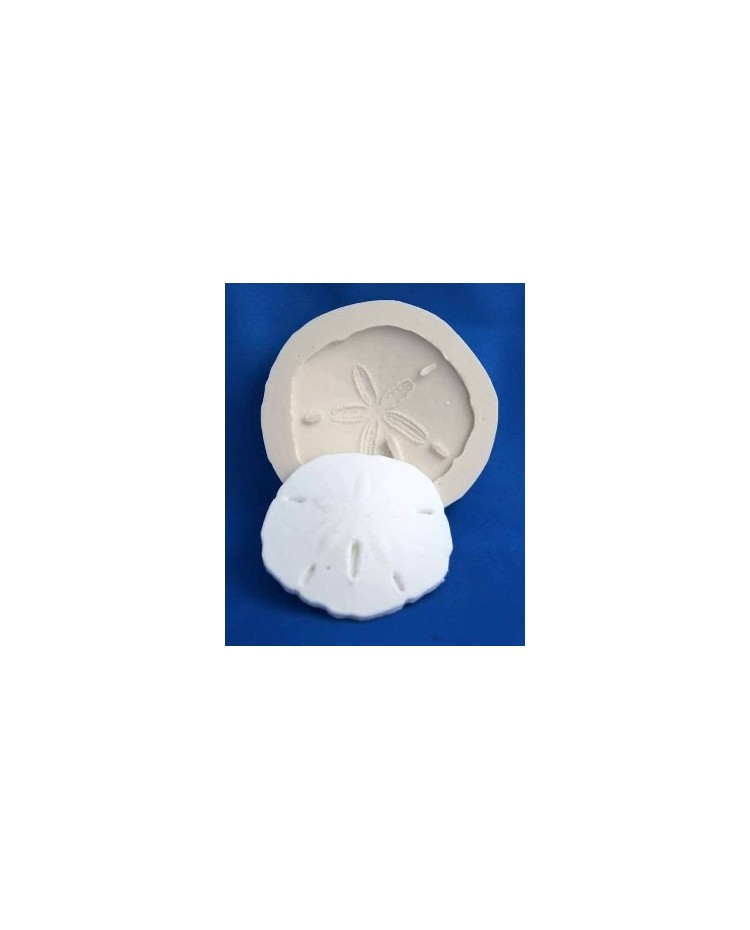 image: Sand dollar shell or seashell silicone mould
