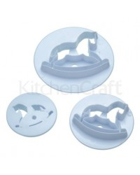 image: Rocking horse fondant cutter set 3