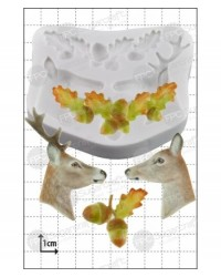 image: Stag & Doe Deer silicone mould