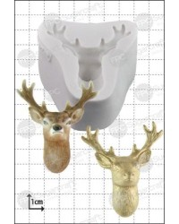 image: Stag head deer silicone mould