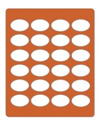 image: Oval chablon silicone mat #1