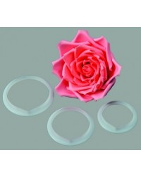 image: FMM Rose LARGE petal cutters set 3