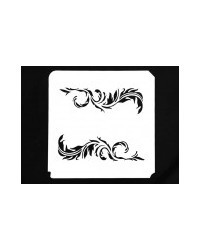 image: Feather Scrolls stencil (left & right)
