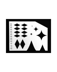 image: Diamonds stencil asstd designs