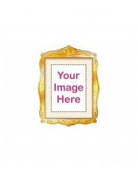image: Custom edible icing image RECTANGLE gold frame