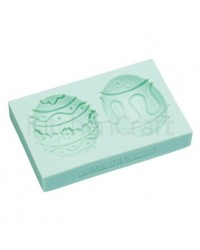 image: Silicone Easter egg mould 2 cavity