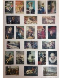 image: Wafer paper sheet Old Masters art paintings medium