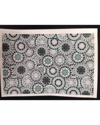 image: Wafer paper sheet Black White & Grey circles