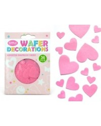 image: Wafer paper pink hearts (36)