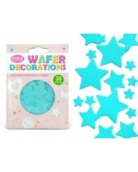 image: Wafer paper blue stars (36)