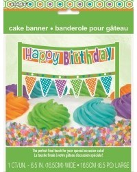 image: Cake banner bunting Citrus Happy Birthday