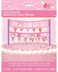 image: Cake banner bunting Baby Shower Girl Pink Clothesline