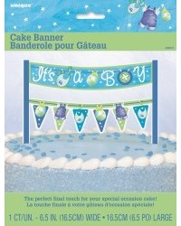 image: Cake banner bunting Baby Shower Boy Blue Clothesline